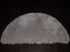 HALF MOON SHAGGYS RUGS 60CMX120CM WOVEN GOOD QUALITY NEW SUPER THICK PILE CREAM